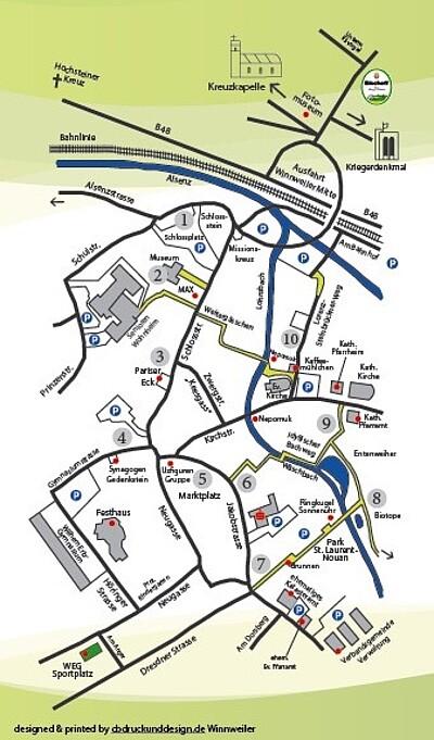 Karte mit Rundgang durch Winnweiler