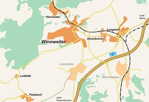 Ortsplan der Ortsgemeinde Winnweiler